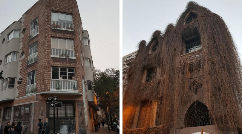 particulares edificios verás en el barrio Lastarria