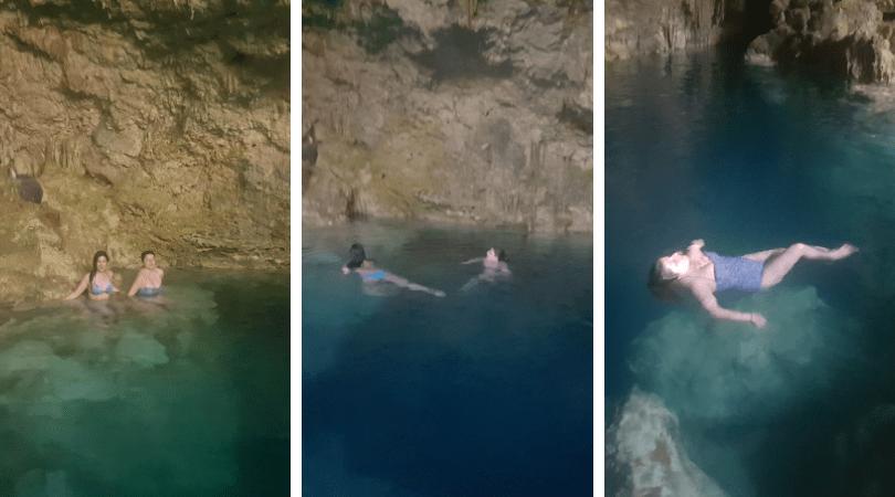 El agua es fresca y refrescante, además de muy transparente