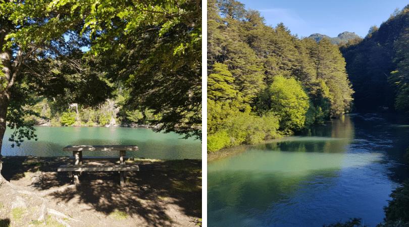 En Puerto Blest hay una pequeña península con zonas de picnic que dejan apreciar los exhuberantes paisajes