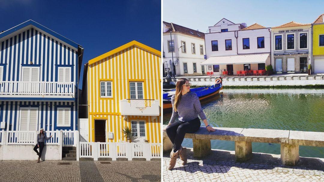 Los colores de Costa Nova y los canales de Aveiro