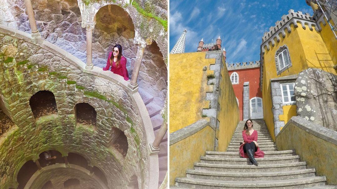 La hermosa Quinta de Regaleira y el colorido Palacio de Pena