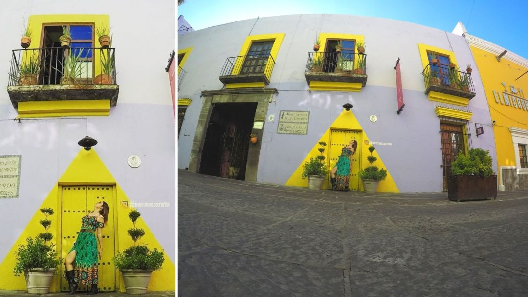 Esta foto la tomé muy temprano en el callejón de los sapos, Puebla, México, con la Gopro, enderecé el horizonte, la recorté y saturé una pizca el color