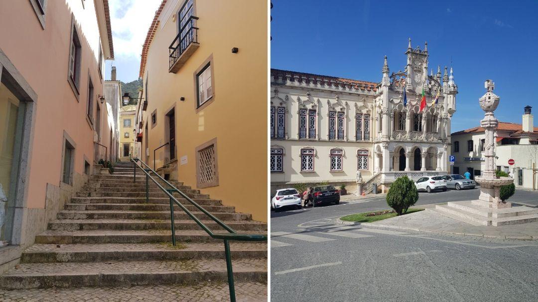 Detalles del centro histórico de la hermosa Sintra