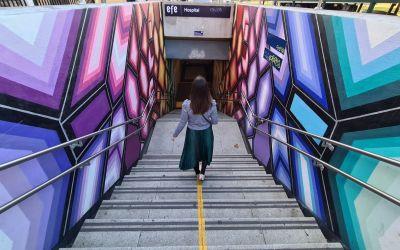 Conoce los murales de Metro en Viña del Mar y empápate de arte y color