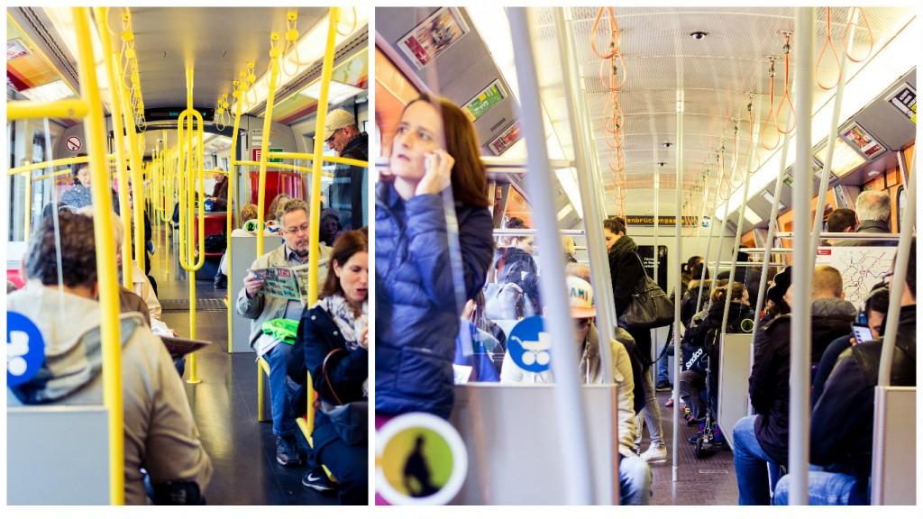 En el metro. Foto: Sara Apaza.