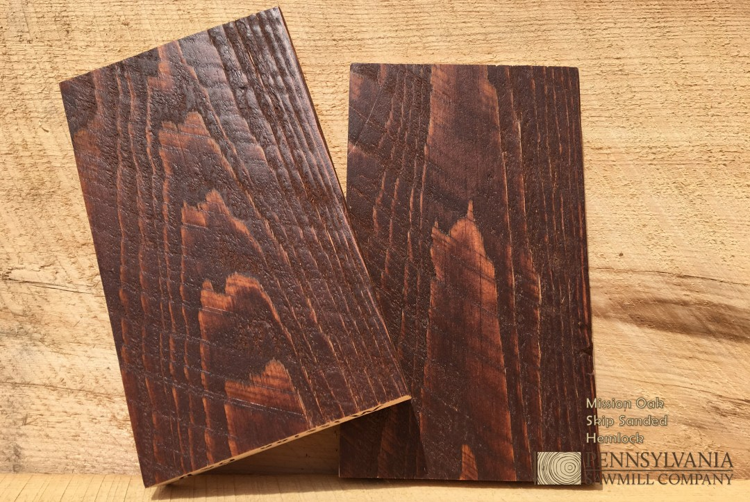 Hemlock - Skip Sanded w/ Mission Oak