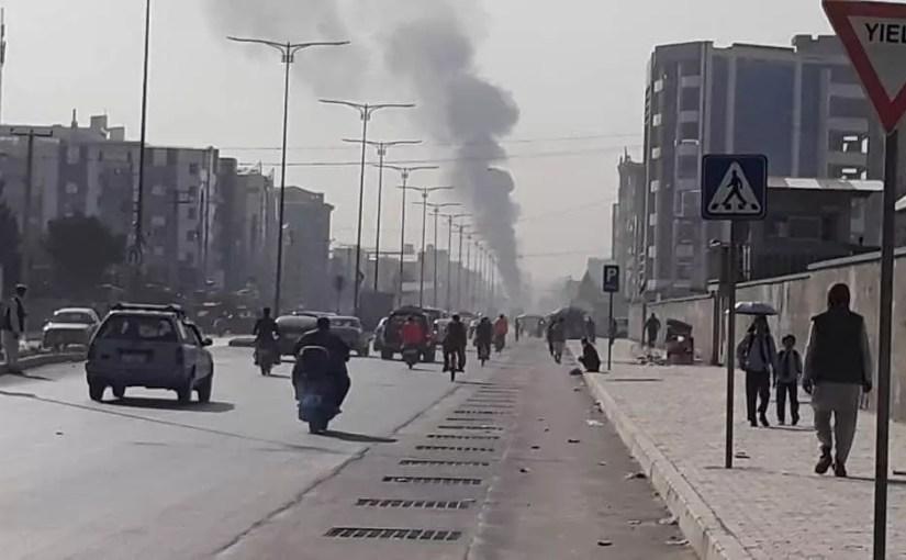 تصویر از حمله بر کاروام موتر های امرالله صالح