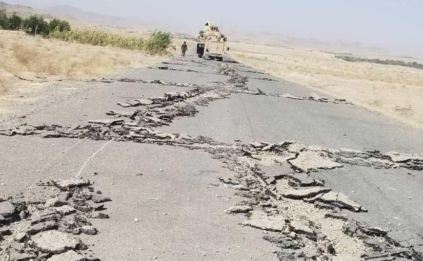 تخریب شاهراه قندهار-ارزگان از سوی طالبان