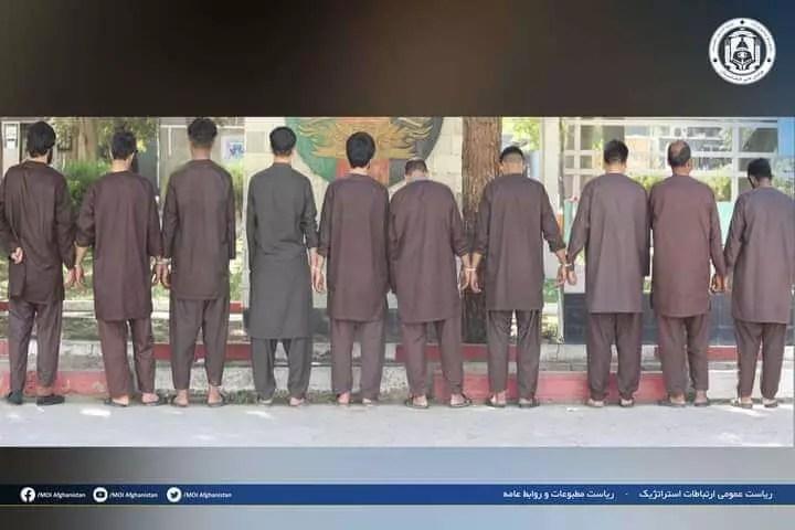 بازداشت ۱۰ تن در پیوند به جرایم جنایی در شهر کابل