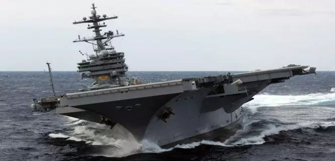 The American aircraft carrier entered the Persian Gulf