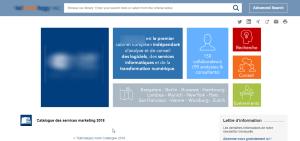 Produire, diffuser et vendre des rapports sur l'analyse de marché des services informatiques