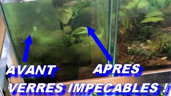 nettoyage vitres aquarium