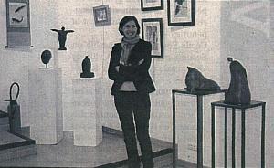 Pascale Beneteau dans la galerie 60