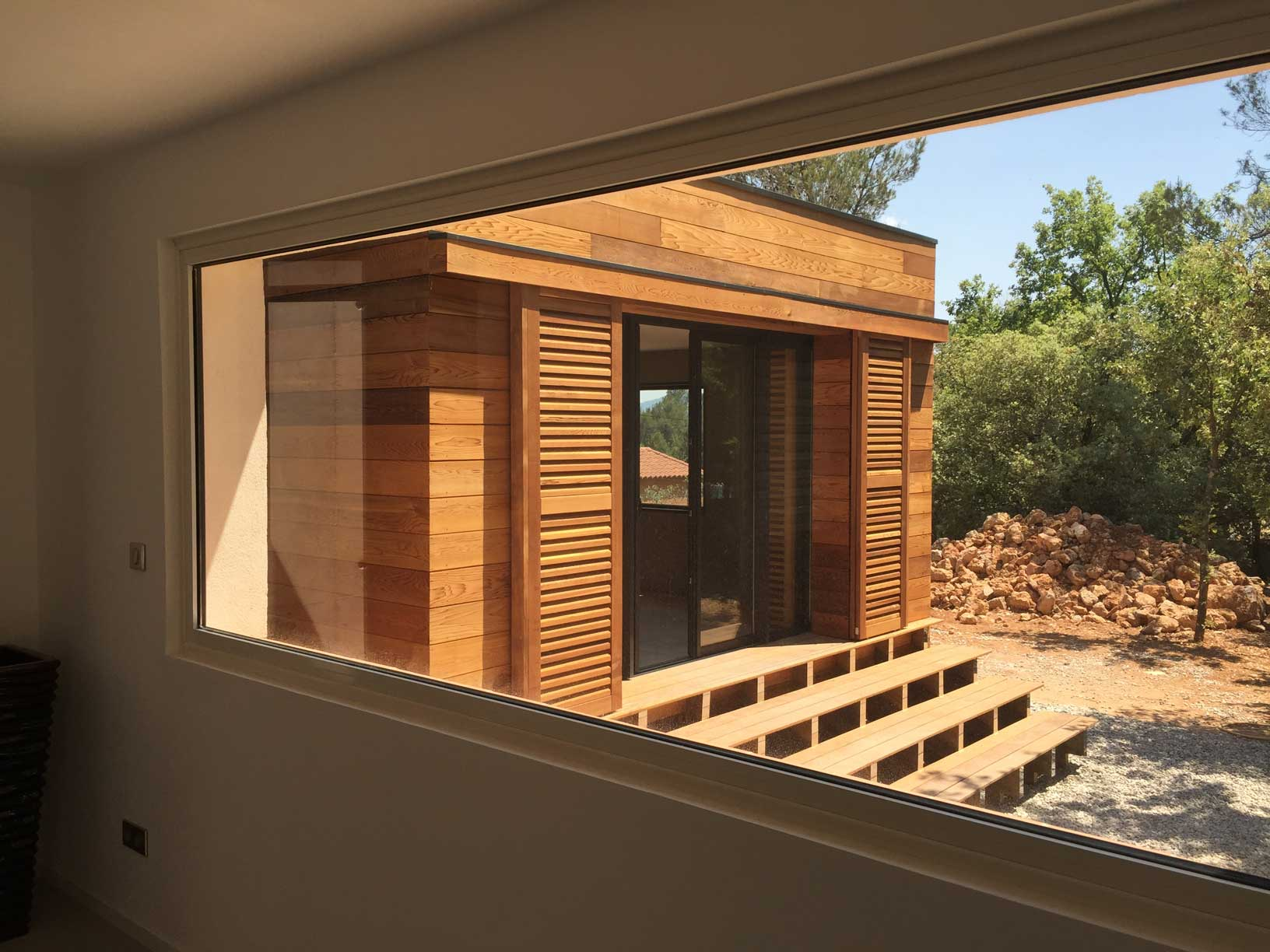 extension villa saint maximin volume bois