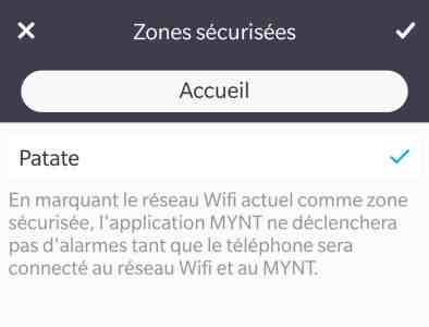 Alarme consomme batterie Mynt ES traceur tracker bluetooth