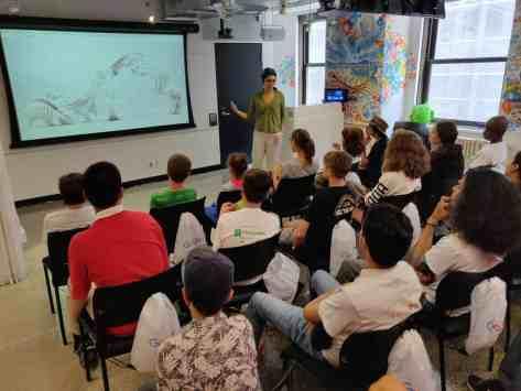 Visite des bureaux Google Montreal camp découverte techno