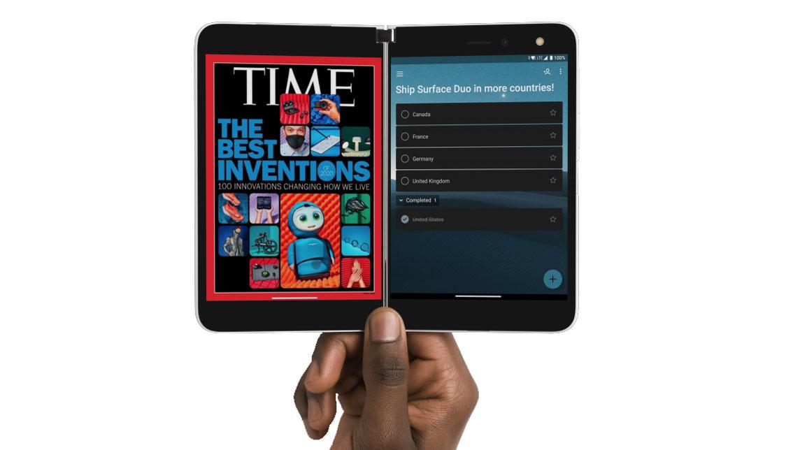 tablette téléphone surface Duo disponible Canada 2021