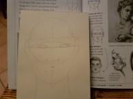 Studio ovale e testa 2