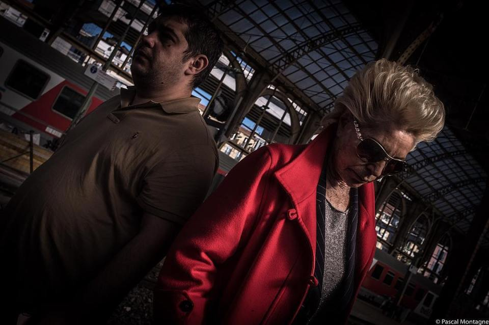 #women #blondehair #blonde #red #sunglasses #streetphotography #street #train #station #travel #old #permedhair #picoftheday #instagood #instadaily