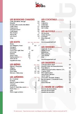 Infographiste Rouen Pascal Ridel Identité visuelle menu restaurant boissons