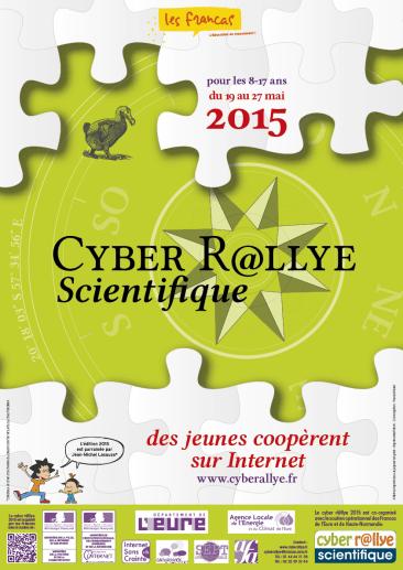 Infographiste Rouen Affiche Carte de voeux Cyber rallye 2015