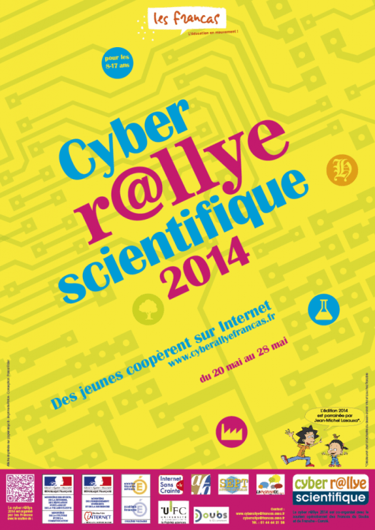 Infographiste Rouen Pascal Ridel Affiche cyber rallye 2014