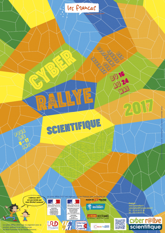 Infographiste Rouen Pascal Ridel affiche cyber rallye 2017