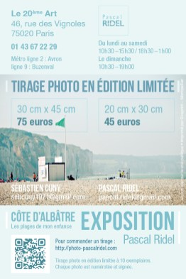 Infographiste Rouen Pascal Ridel - Exposition photo flyer tarif
