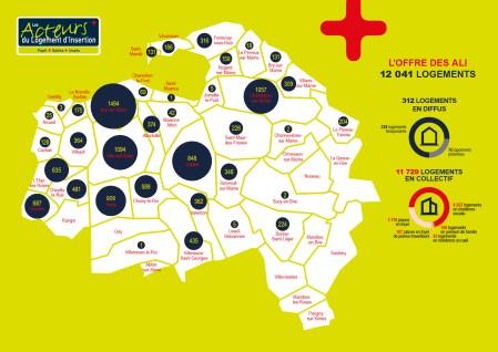 Infographiste Rouen Pascal Ridel - cartographie offre de logements d'insertion