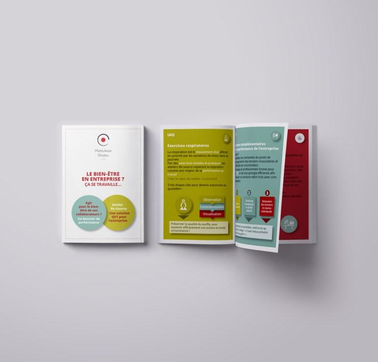 Infographiste Rouen Pascal Ridel Brochure MatsukazeShiatsu