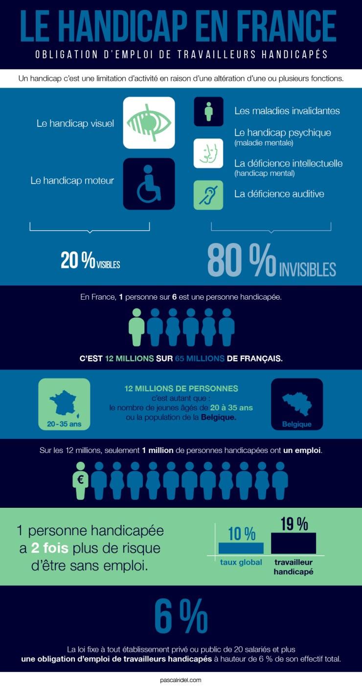 Infographiste Rouen Pascal Ridel - infographie - le handicap en France