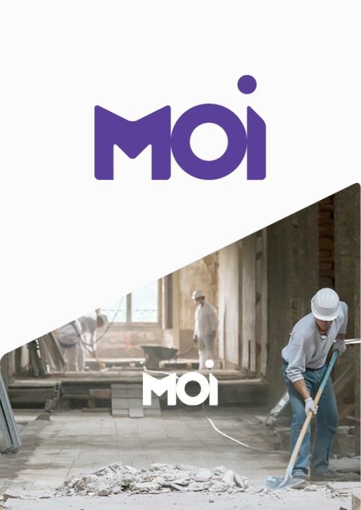 Infographiste Rouen Pascal Ridel - Logo MOI Maîtrise d'Ouvrage d'Insertion pour la Fapil