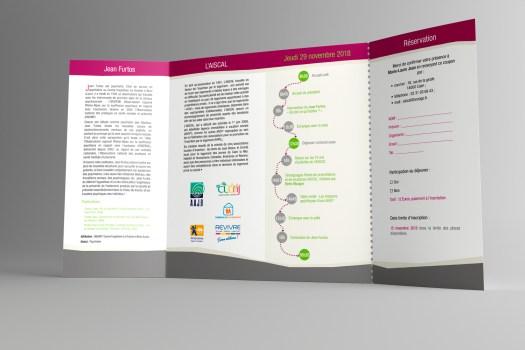 Infographiste Rouen Pascal Ridel - Dépliant invitation - AISCAL 10 ans