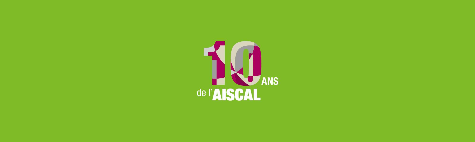 Infographiste Rouen Pascal Ridel - banniere - Dépliant invitation - AISCAL 10 ans