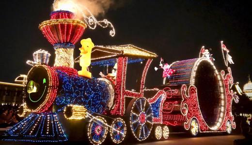 【iPhone X 撮って出し】東京ディズニーリゾートで夜のショー・パレードを撮影[エレクトリカルパレード編]