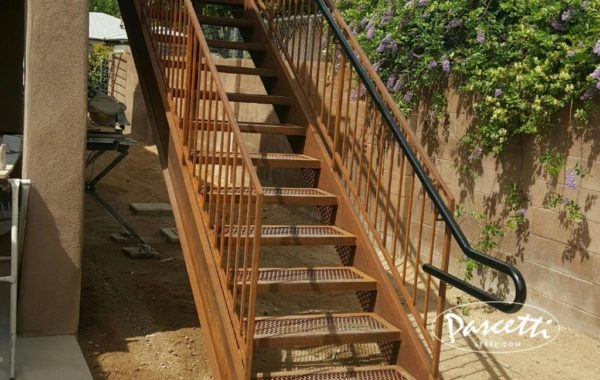 Residential Stairs Pascetti Steel Design Inc | Prefabricated Exterior Metal Stairs | Stair Case | Stairways | Aluminum | Wrought Iron | Stair Treads