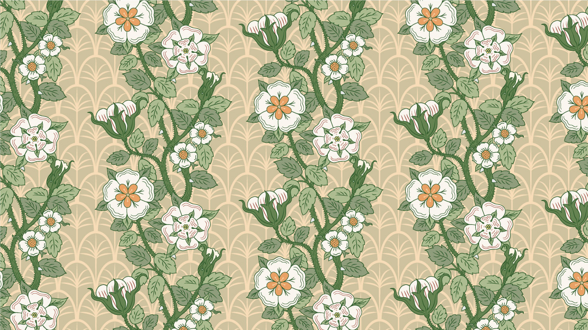 Jimena, floral pattern design created by Pascûal