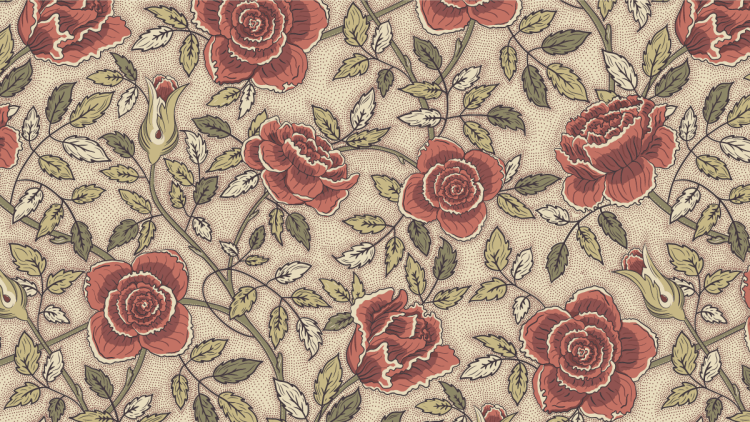 Roses. Arts and Crafts patterns designed by Pascûal