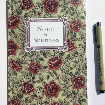 Notebook Roses Design Cover