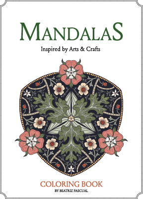 Coloring book _ Mandalas inspired by Arts and Crafts