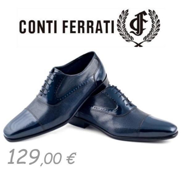Zapato Novio 2020 de Conti Ferrati, Azul Zapatos 129 €