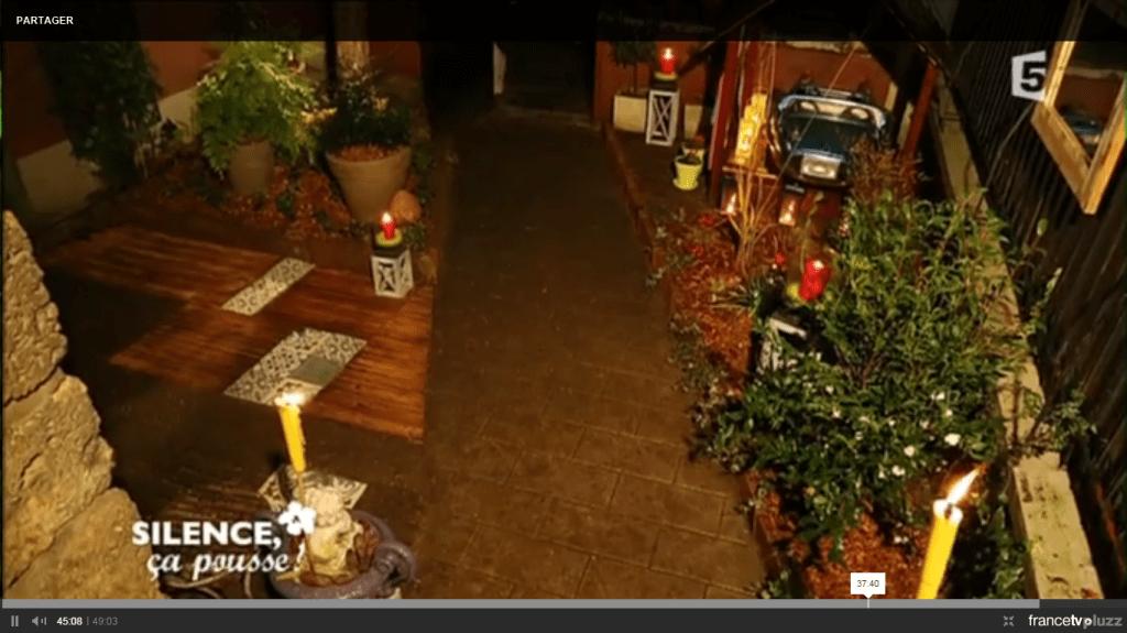 aménager une entrée extérieure de maison ombragée