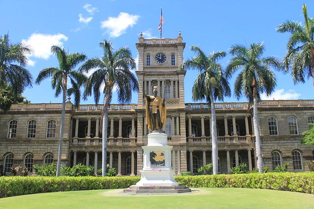 Estatua del rey Kamehameha Oahu Hawai