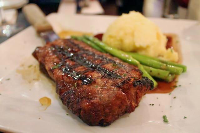 Grilled steak Vineyard Grille Boston