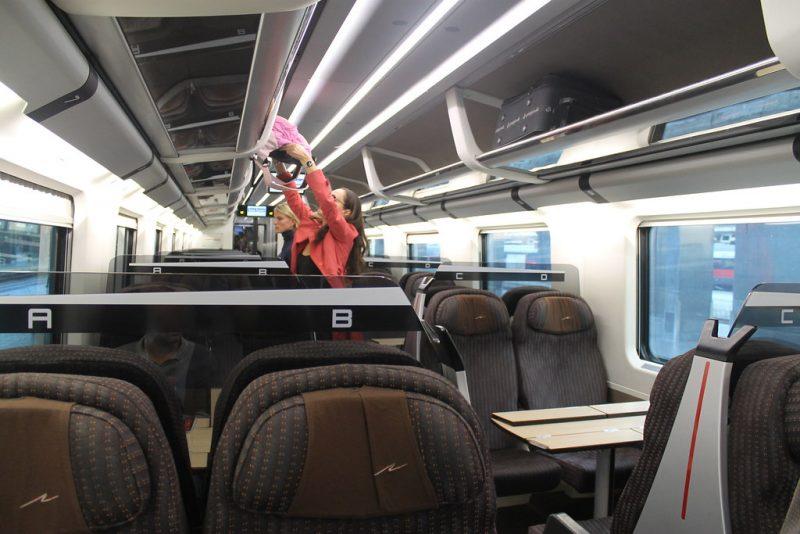 Interior tren Roma Florencia
