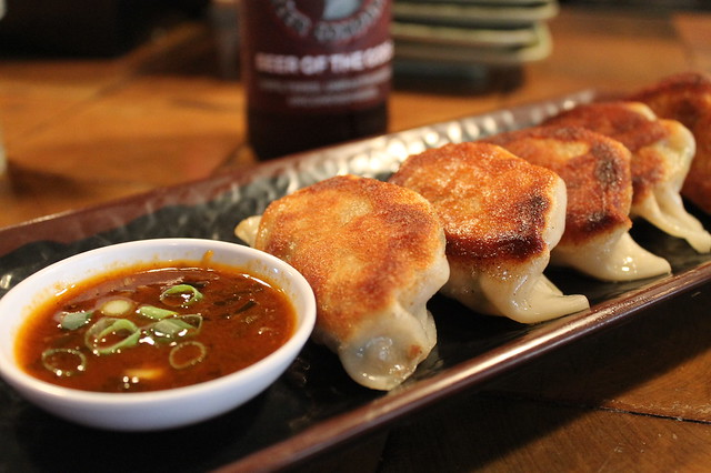 Mama chang's pork dumplings Myers+Chang Boston