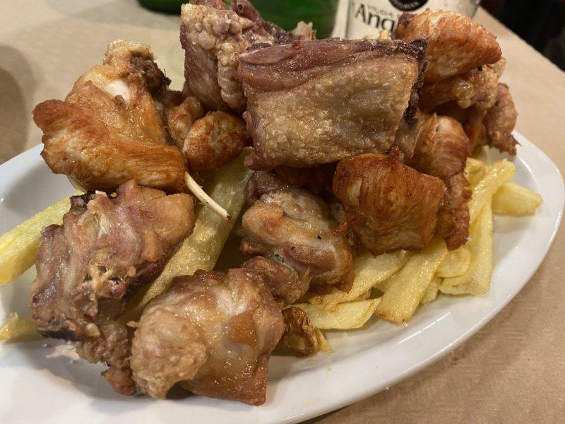 Pollo al ajillo Sidreria Nueva Iberica