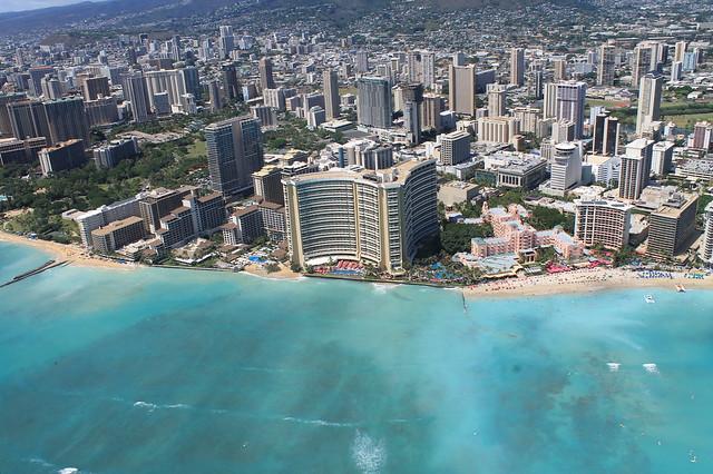 Waikiki desde el aire