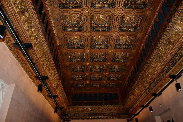 Artesonado Salon del Trono Palacio de la Aljafería Zaragoza