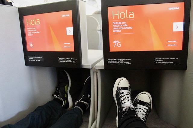 Asientos clase business de Iberia